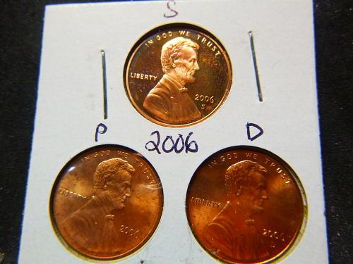 Small Cents >> Lincoln Memorial Cent >> 2006-P,D&S