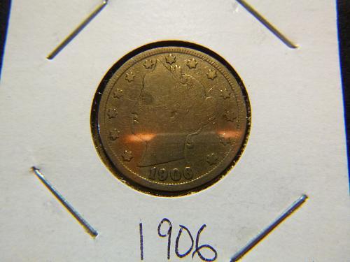 1906 P Liberty Nickels