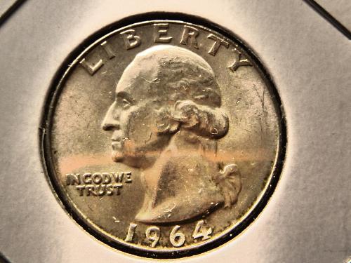 1964 D Washington Quarters Silver Composition