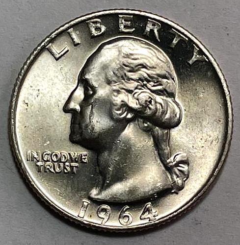 1964 Washington Quarters 90% Silver Composition 3653