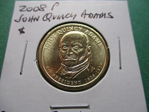 2008-P  John Quincy Adams Presidential Dollar.  PD 08JQ-01.