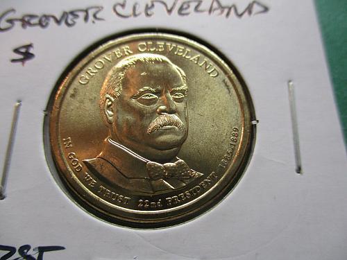 2012-D  Grover Cleveland First Term Presidential Dollar.  Item: PD 12DGC1-01.