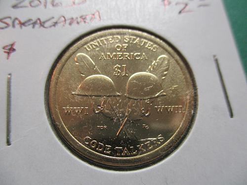 2016-D  Sacagawea Dollar.  Item: DS 16D-03.