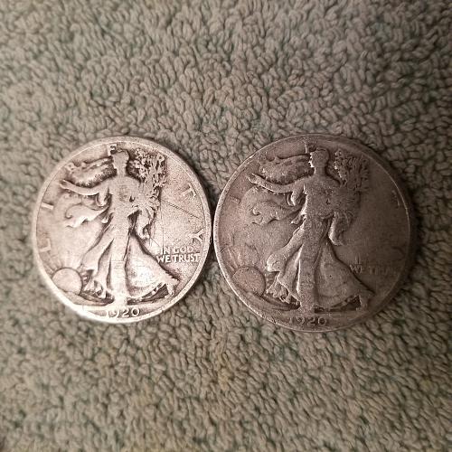 ONE (1) 1920 Walking Liberty Half Dollar