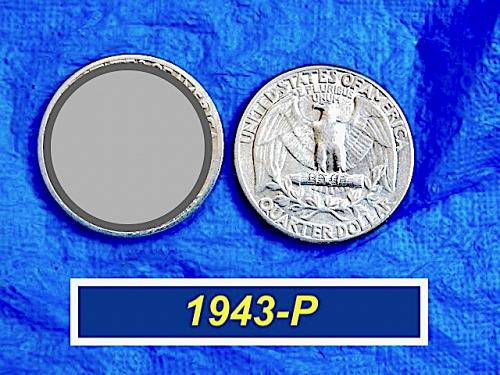 "1943-P SILVER Washington 25¢  ⭐️  Circulated ""VF"" Condition  ⭐️  (2992R"