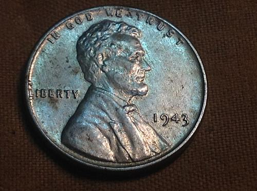 1943 P Lincoln steel cent