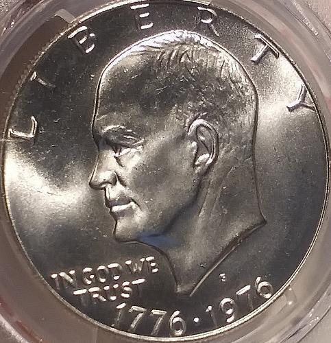 PCGS MS 67 1976S 40% Silver Eisenhower Dollar