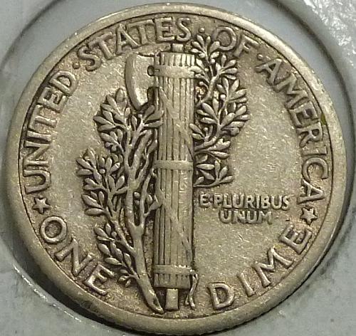 1916-P Extra Fine Mercury Dime   (A-042)