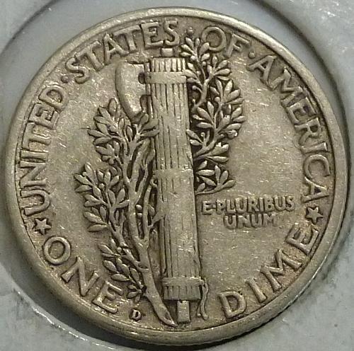 1919-D Extra Fine Mercury Dime   (A-043)