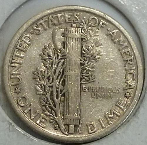 1917-S Extra Fine Mercury Dime   (A-053)