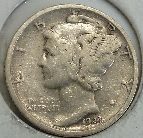 1924-D Extra Fine Mercury Dime   (A-041)