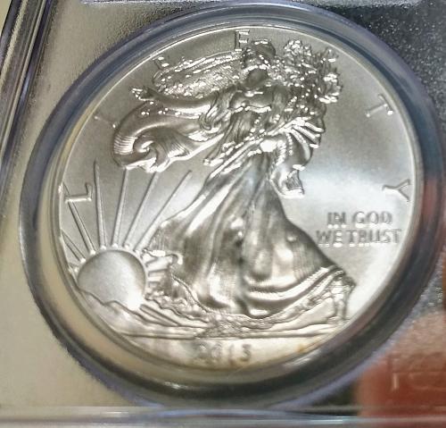 2013 $1 Silver Eagle First Strike PCGS MS-70 1oz. Silver