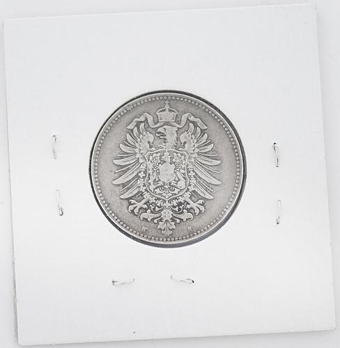 1882 H 1 Mark German Coin