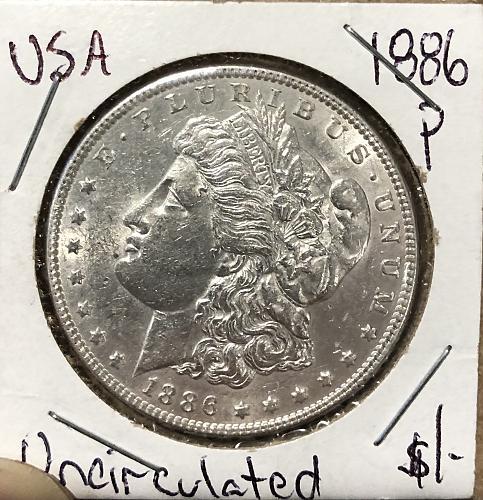 1886-P Morgan Dollar