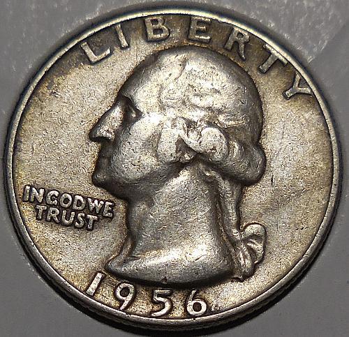 1956-P Silver Quarter