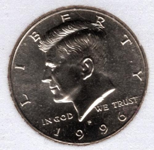 1996 P Kennedy Half Dollars -#4d