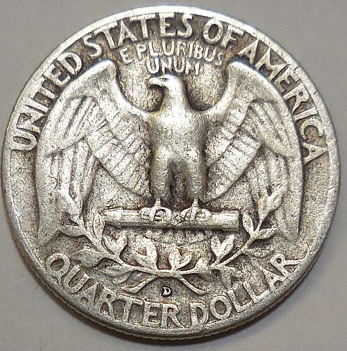 1959-D Silver Quarter