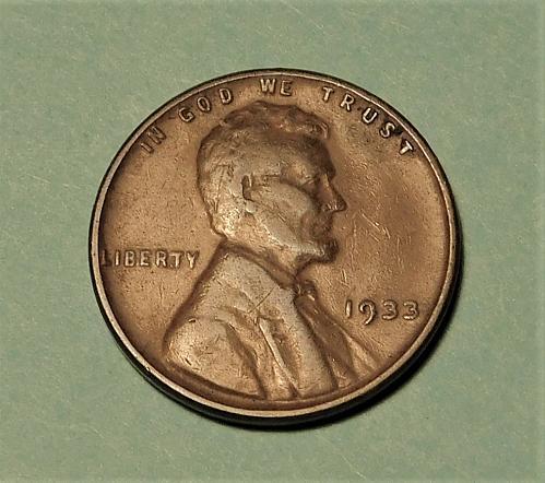 1933 P Lincoln Wheat Cent