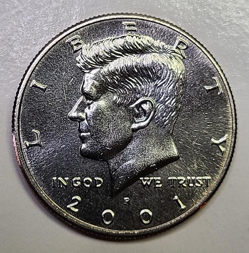 2001-P Kennedy Half Dollar MS-64 (Near Gem)