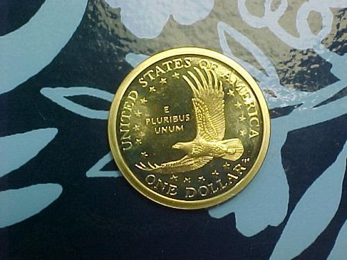 2002 S SACAGAWEA DOLLAR   CAMEO PROOF        an27
