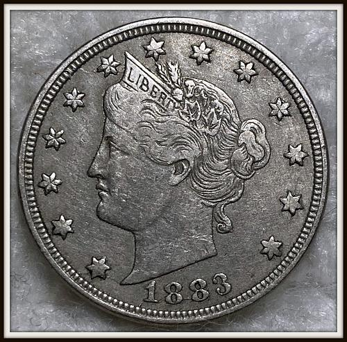 1883 5C Liberty 'V' Nickel (VF) without cents