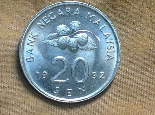 1991 Malaysia 20 Sen