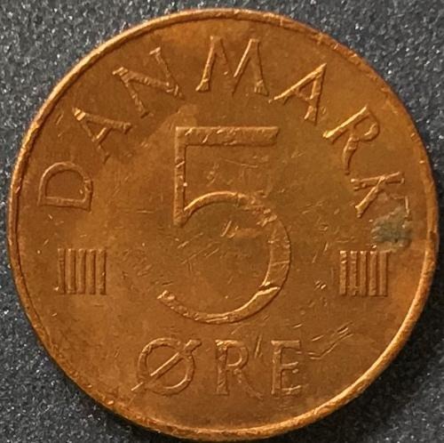 Denmark - 1977 - 5 Ore [#1]