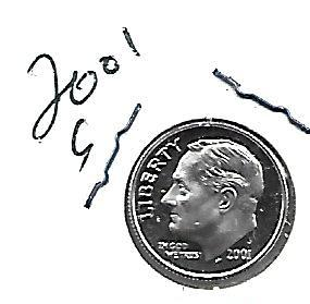 2001 S  SILVER PROOF ROOSEVELT DIME