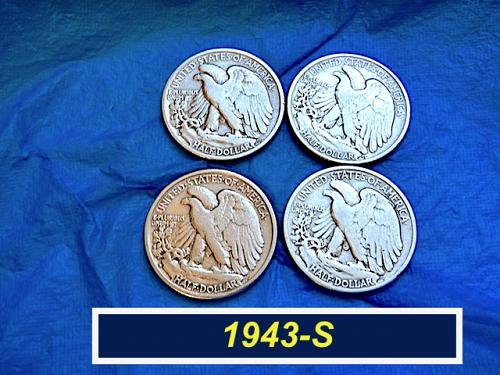 1943-S Walking Liberty Half  ⭐️  90% Silver   ⭐️  (1174)