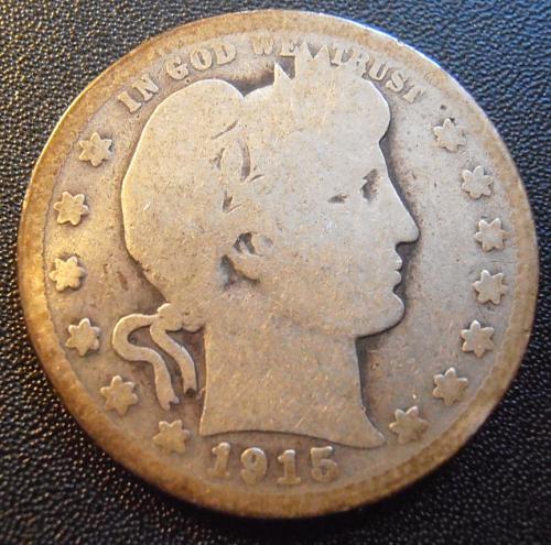 1915 P Barber Silver Quarter,  (15PAC1)