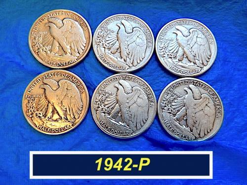 1942-P Walking Liberty Half  ⭐️  90% Silver   ⭐️  (1173)