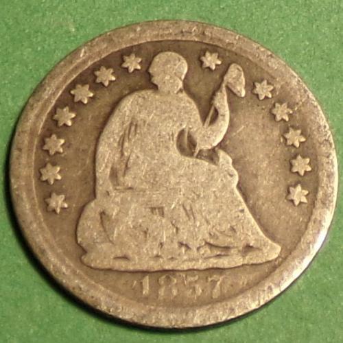 1857 P Seated Liberty Half Dime