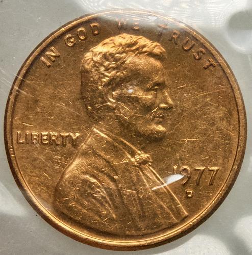 1977 D Lincoln Memorial Cent#5 Mint Cello