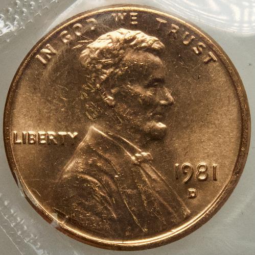 1981 D Lincoln Memorial Cent#5 Mint Cello