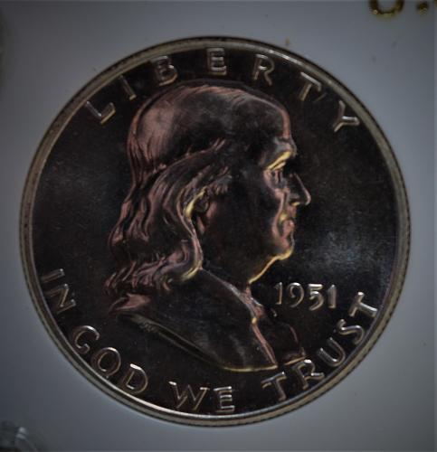 1951 PROOF Franklin Silver Half Dollar - STUNNING!!