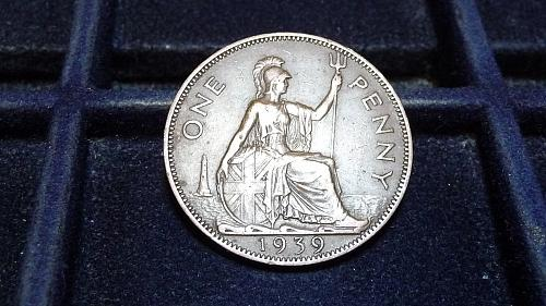 1939 GREAT BRITIAN ONE PENNY IN FINE CONDITION  D-7-21