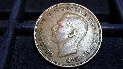 1944 GREAT BRITIAN ONE PENNY IN FINE CONDITION  D-7-21