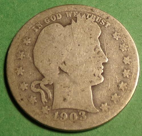 1903 P Barber Quarter