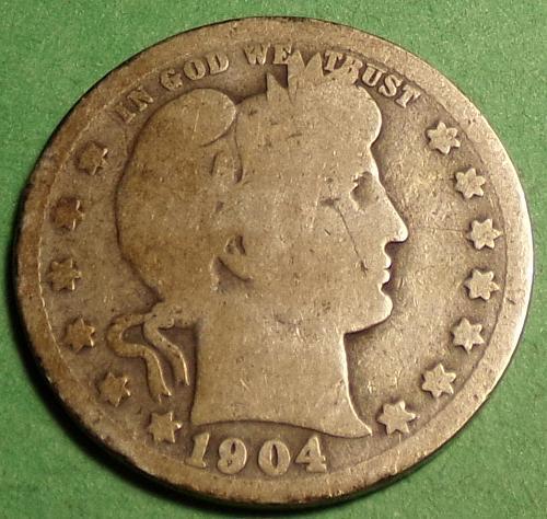 1904 P Barber Quarter