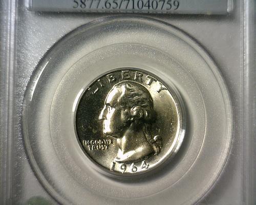 1964 D  SILVER WASHINGTON QUARTER  PCGS MS-65  NICE LOOKING COIN!!