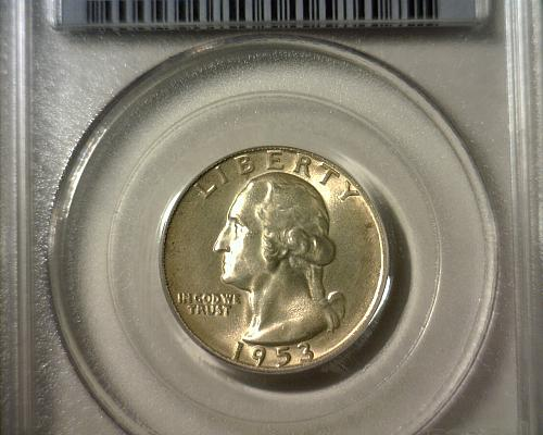 1953 S  SILVER WASHINGTON QUARTER  PCGS  MS-65   NICE LOOKING COIN!!