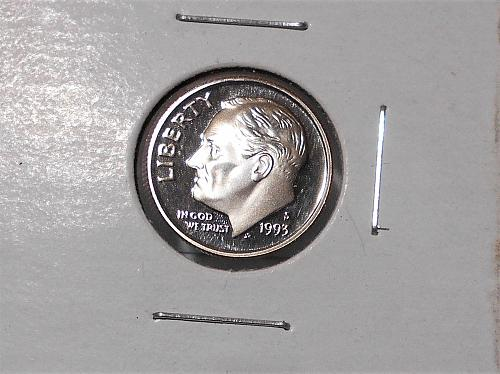 1993 S Proof Clad Roosevelt dime. Nice cameo coin