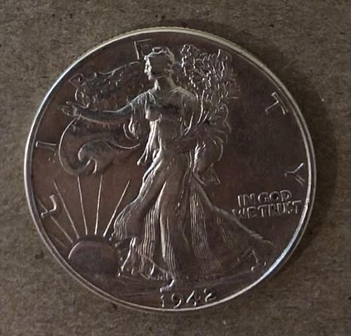 1942 - P Walking Liberty Half Dollar