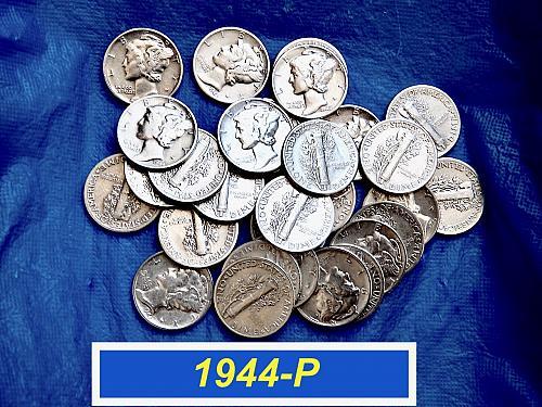 1944-P  Mercury Dime  ⭐️ Full Date  ⭐️ 'Fine-VF'  ☆ (3372)