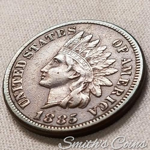 1885 ~ Indian Head Cent ~ VF-35