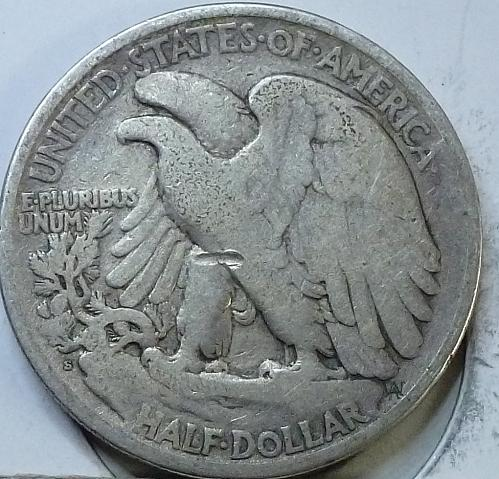 1921-S Walking Liberty Half Dollar in Fine Grade ( H-421 )