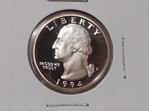 1994 S Proof Clad Washington quarter..Deep cameo coin