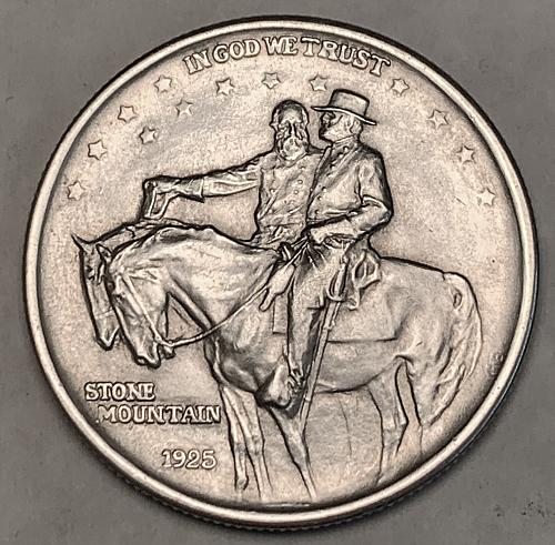 1925 Stone Mountain Commemorative Half Dollar XF+  [COM 22]