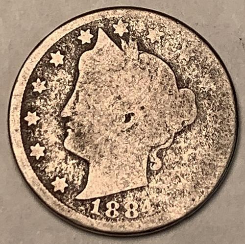 """1884 Liberty """"V"""" Nickel [SVB 313]"""