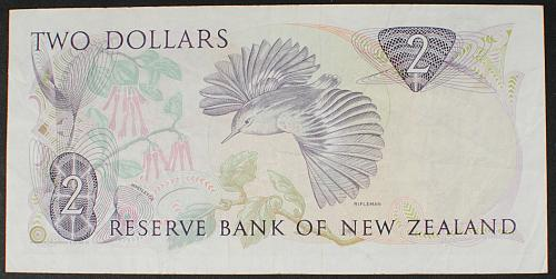 New Zealand P170c 2 Dollars F-VF
